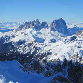 view from the Marmolada, Val Gardena