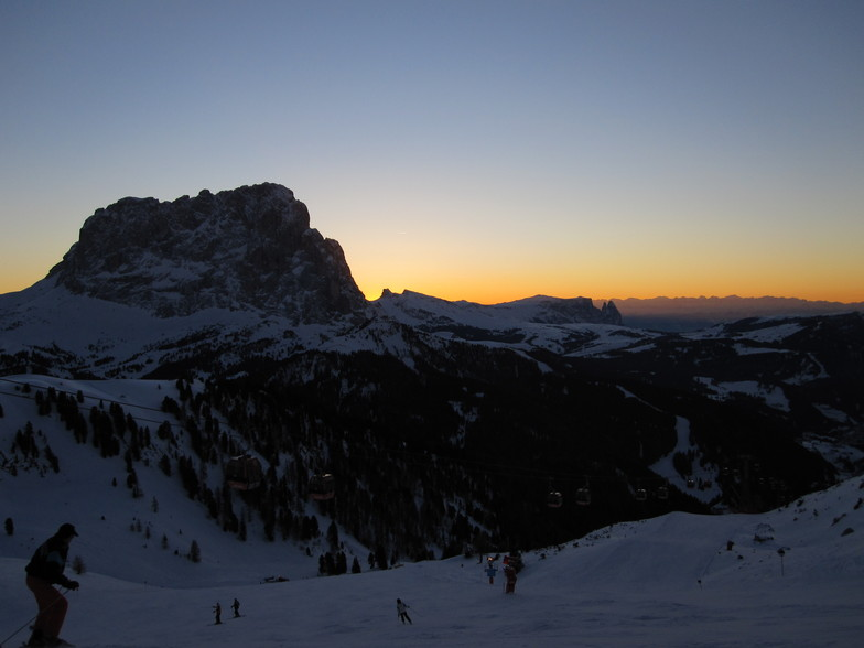Last run of the day, Val Gardena