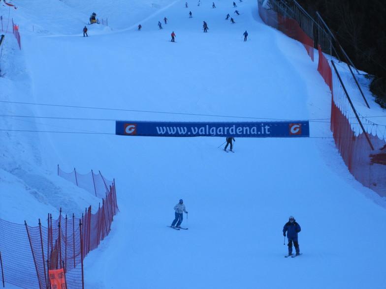 Saslong finish line, Val Gardena