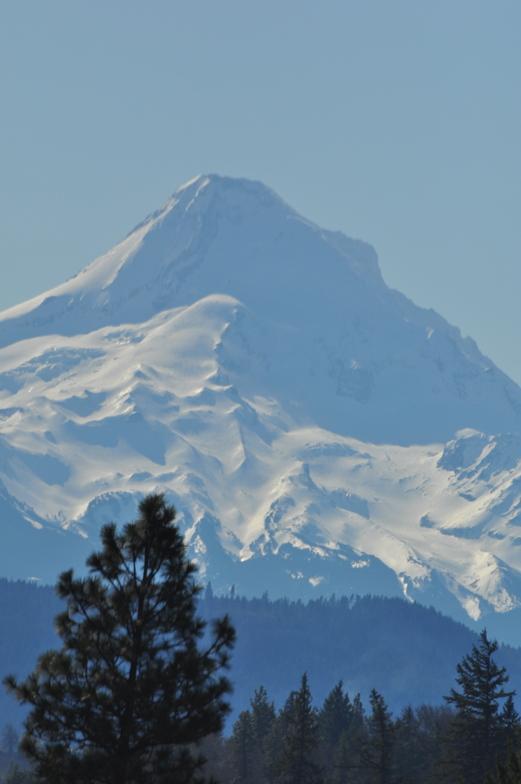 Mount Hood peak 11,249 feet (3,429 m), Mt Hood Meadows