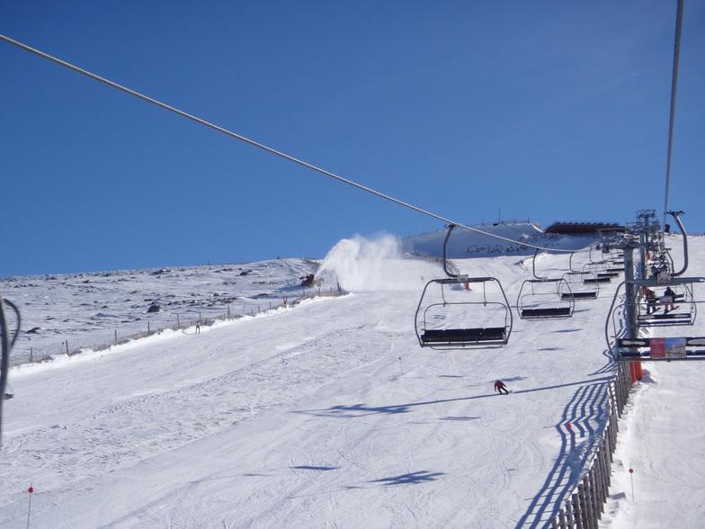 Aprovechando toda la nieve posible, Sierra de Béjar - La Covatilla