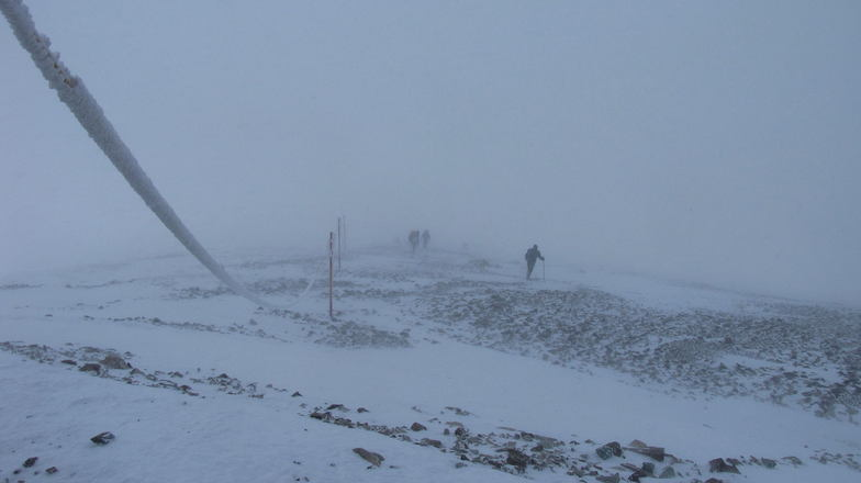 near the peak, Tochal
