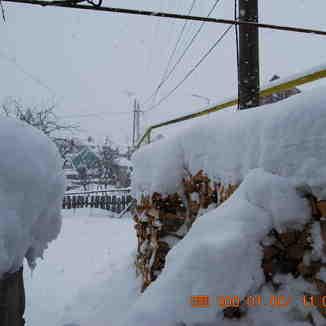 Under snow, Bakuriani