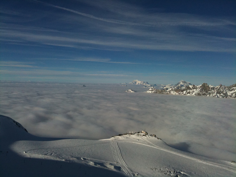Unusual view of Cervinia, Zermatt