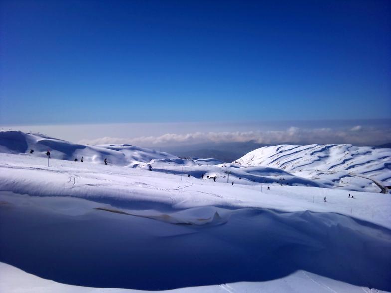 Overlooking Top of piste Nord(Blue), Mzaar Ski Resort