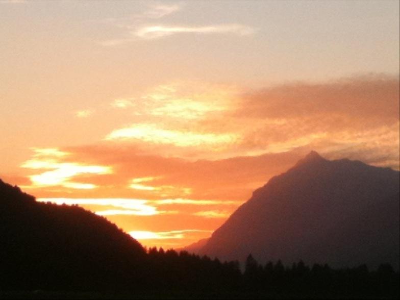 Sunset over Samoens
