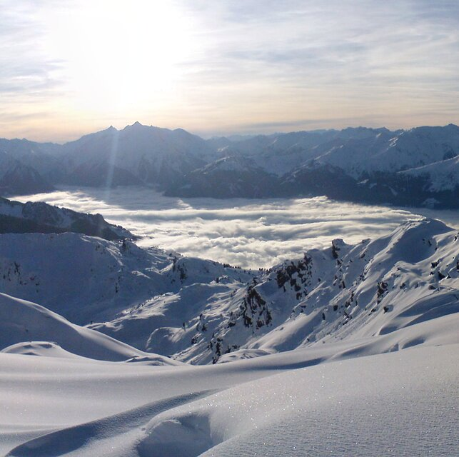 Panorama view towards Mayrhofen, Zell am Ziller
