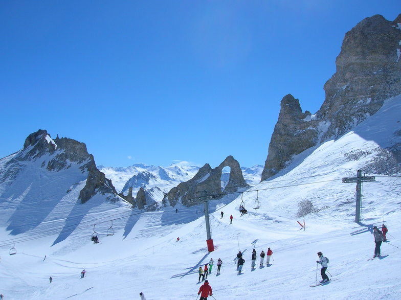 The snowiest resort in France is Tignes