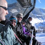 Vaduzer chairlift above Malbun, Liechtenstein