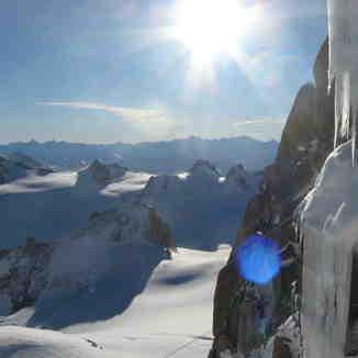 Aiguille du Midi towards Italy, Chamonix