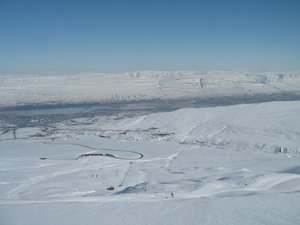 On the top of Akureyri ski area, Hlíðarfjall Akureyri photo