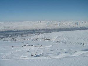 On the top of Akureyri ski area, Hlíðarfjall Akureyri photo