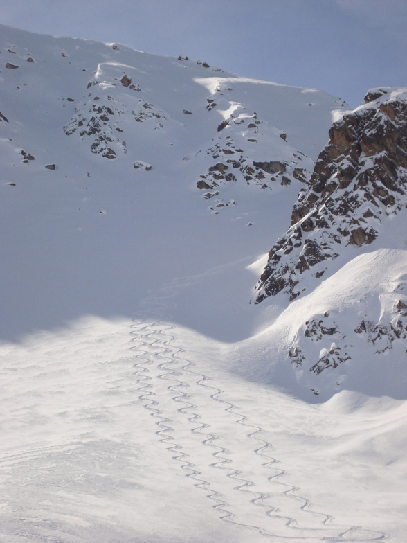 Our Tracks from Sentishorn, Davos