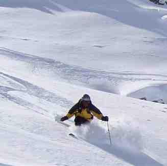Tony in more Sentishorn powder, Davos