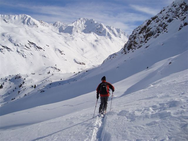 The view to Fluela Weisshorn from Sentishorn, Davos