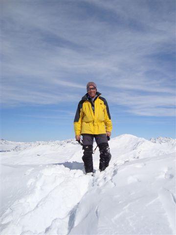 Tony on the Sentishorn Gipfel, Davos