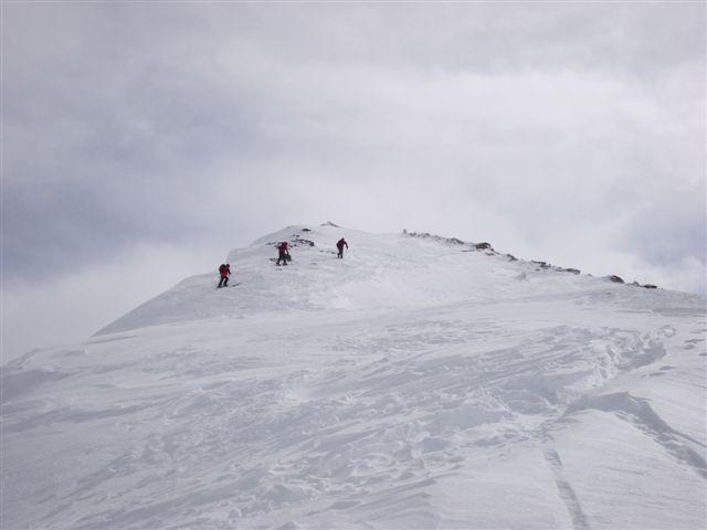 almost on the Pischahorn summit, Davos