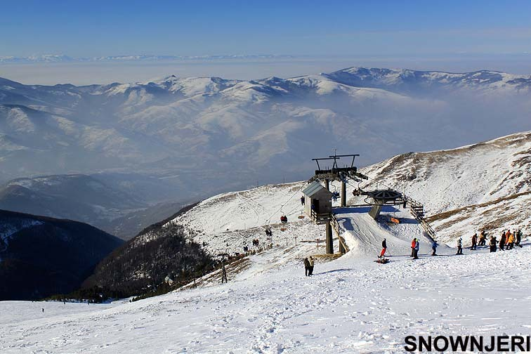 Above the top working lift, Brezovica