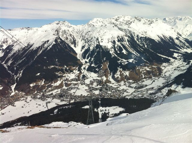 The view to Klosters from the Gotschnagrat, Davos