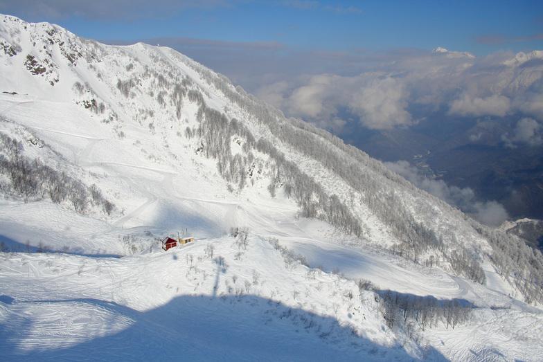 Krasnaya Polyana snow