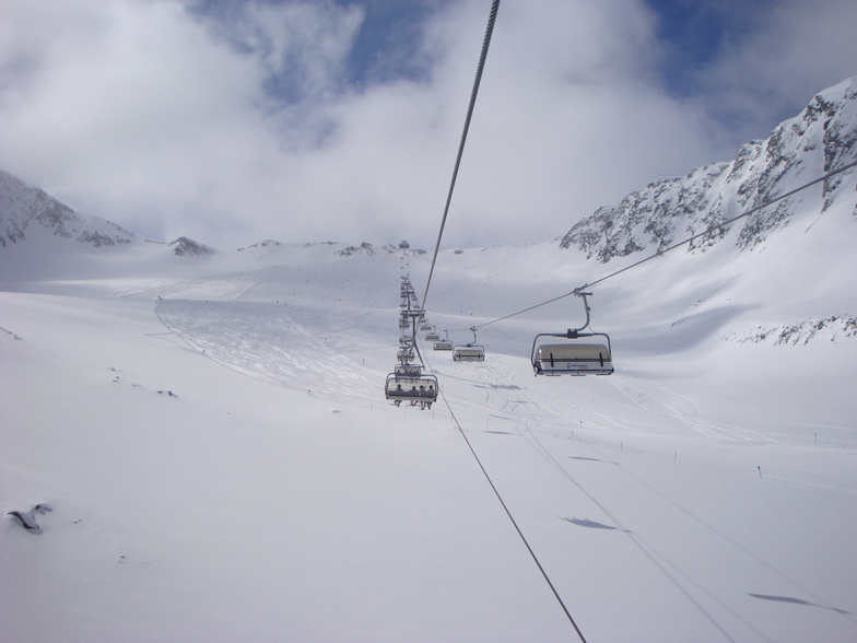 Open and beckoning, Stubai Glacier