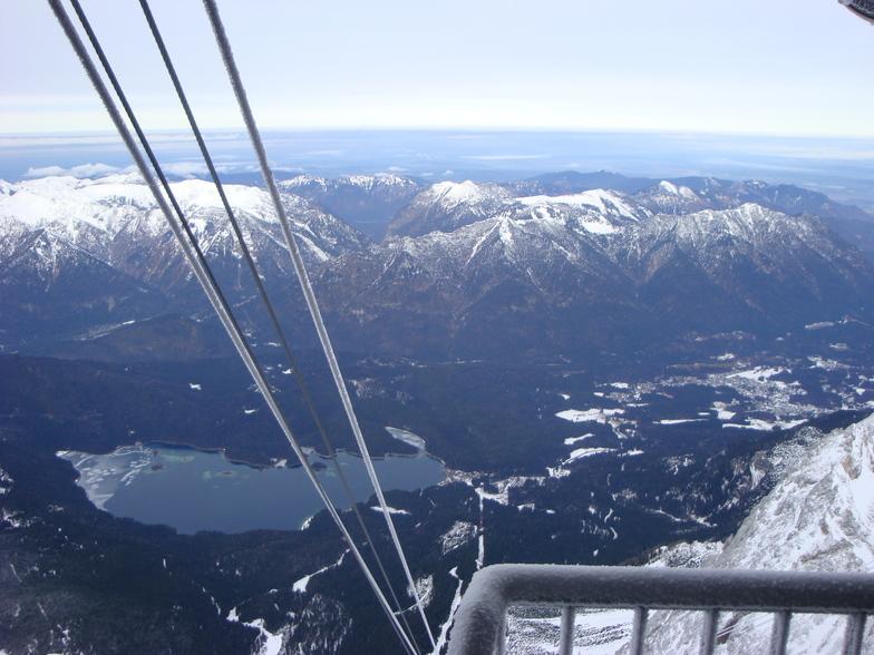 Eibsee from top of Zugspitze cable car, Garmisch-Partenkirchen-Zugspitze