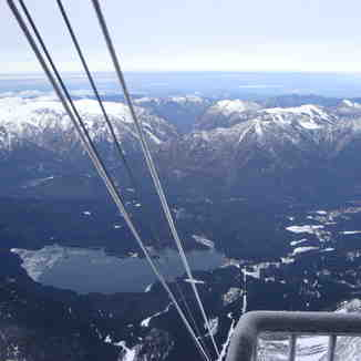 Eibsee from top of Zugspitze cable car, Garmisch-Partenkirchen-Zugspitze
