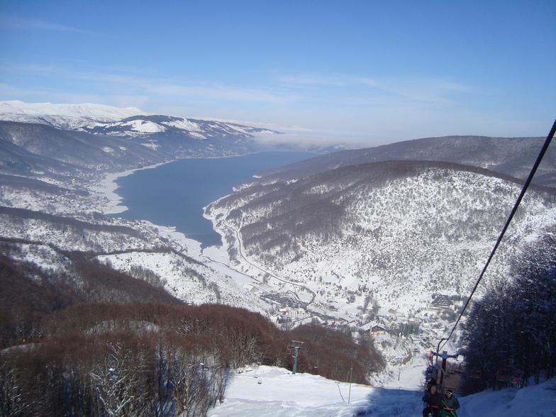 View from the main lift, Mavrovo-Zare Lazarevski