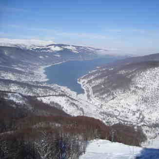 View from the main lift, Mavrovo-Zare Lazarevski