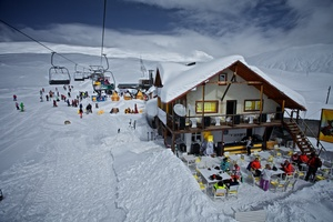 Cafe on the second stage of the lift, Gudauri photo