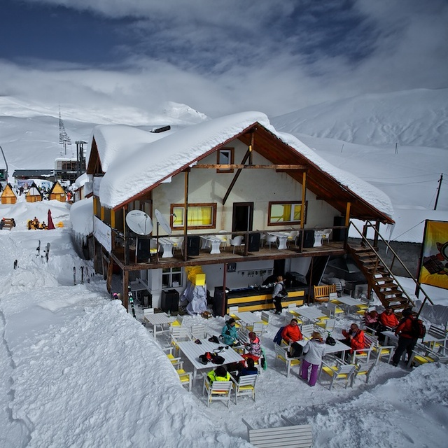 Cafe on the second stage of the lift, Gudauri