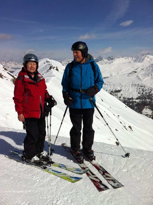 Urs and Helen on Jakobshorn, Davos