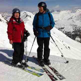 Urs and Helen on Jakobshorn, Davos
