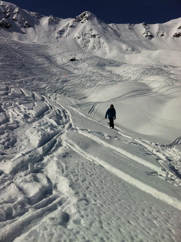 Urs skiing Teufi, Davos