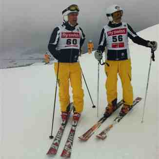 Danny and Willy winners of the Swiss Ski Instructors Graubunden GS championships, Davos
