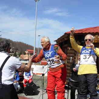 The Winners. (Veteran Skiers A.Zapros- Kostas Tsakis), 3-5 Pigadia