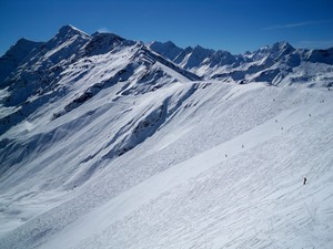 black run on the Col, Zinal photo