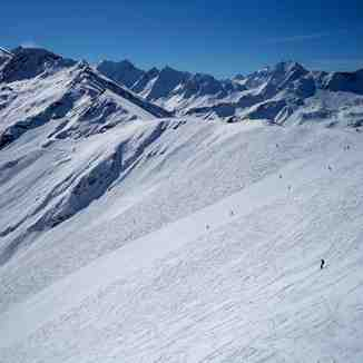 black run on the Col, Zinal