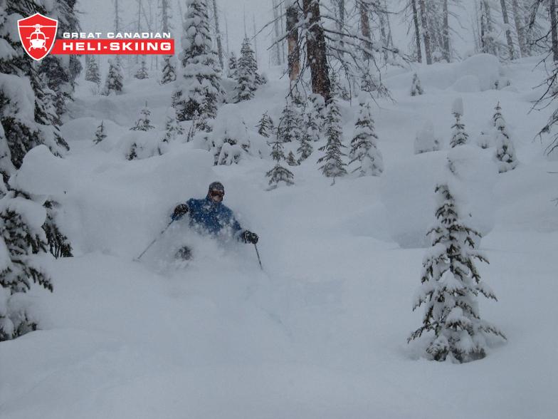 Kasper getting deep!, Great Canadian Heli-Skiing