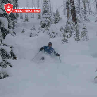 Kasper getting deep!, Great Canadian Heli-Skiing