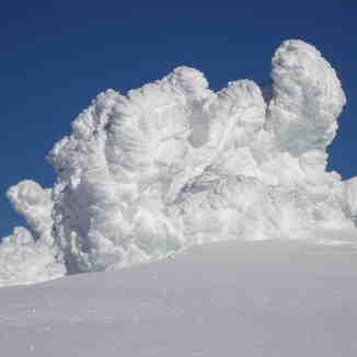 Snow explosion, Mount Washington