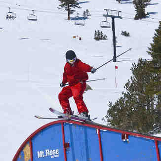 Rail in Lower Badlands, Mt Rose Ski at Tahoe