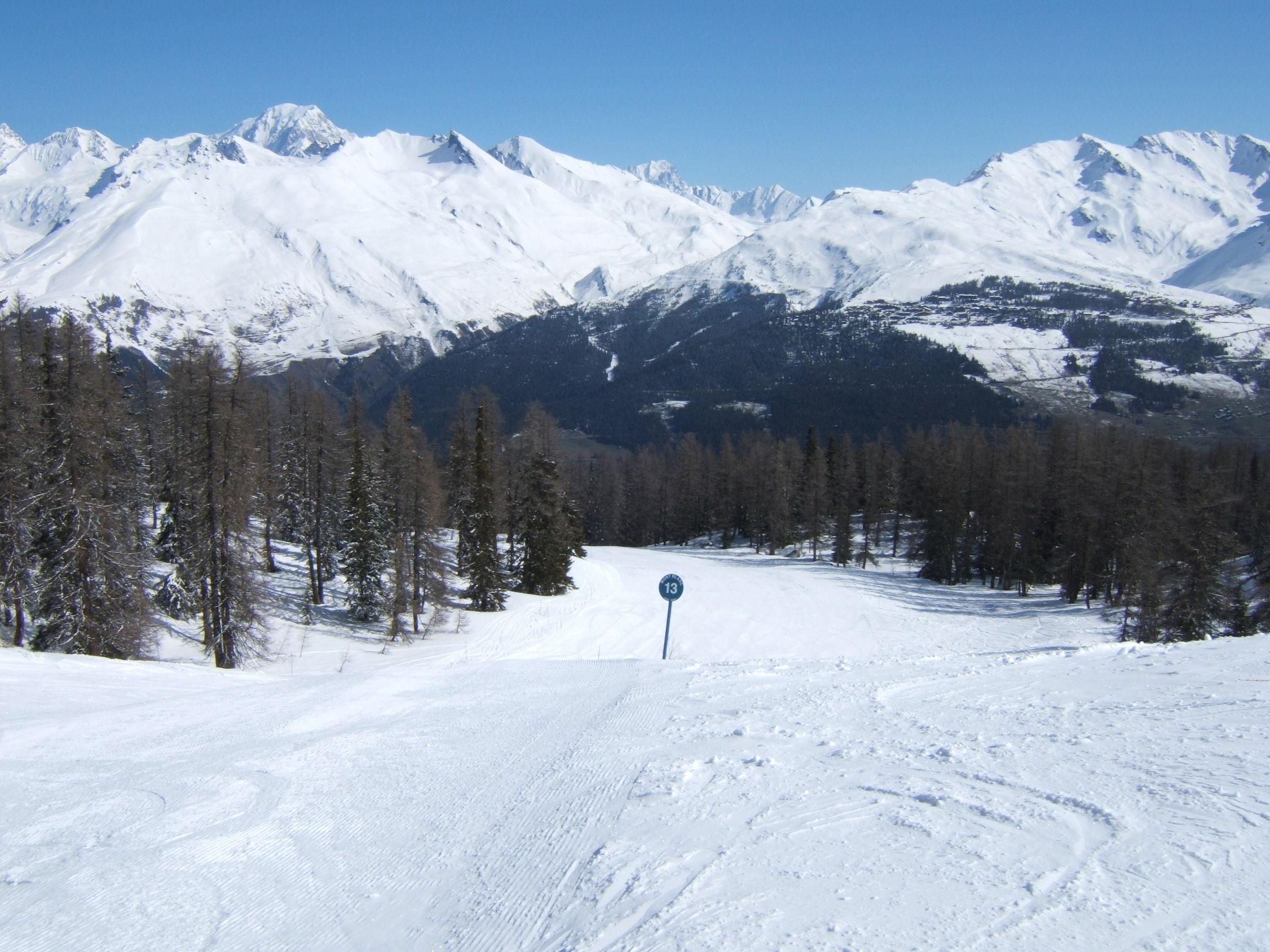 Les Arc 1600 ( Piste accessed via old Mont Blanc chairlift), Les Arcs