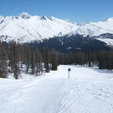 Les Arc 1600 ( Piste accessed via old Mont Blanc chairlift), Les Arcs