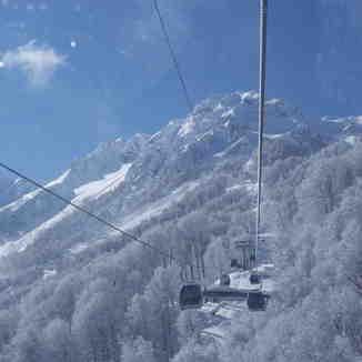 2nd Gondola on Rosa Khutor, Krasnaya Polyana, Russia, Rosa Khutor Alpine Resort