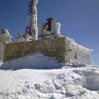 frosted church, Mzaar Ski Resort