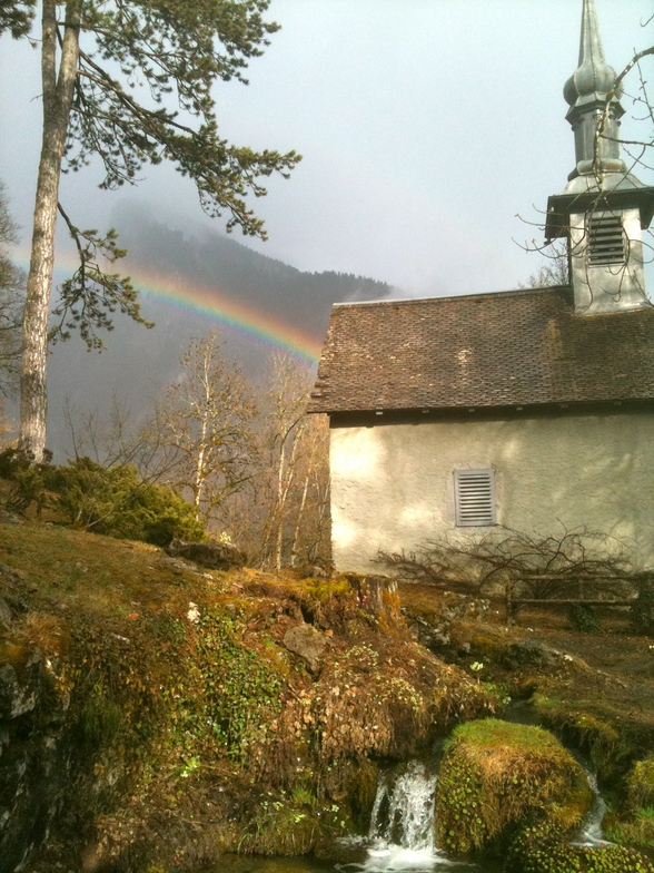 Rainbow from the Chapel, Samoens