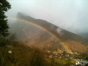 Rainbow over the Criou Mountain, Samoens photo