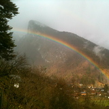 Rainbow over the Criou Mountain, Samoens