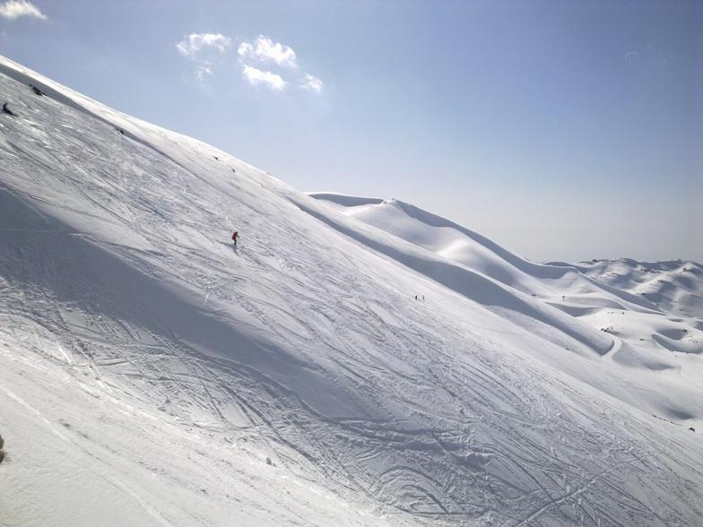 "pleasure of ""hors piste"", Mzaar Ski Resort"